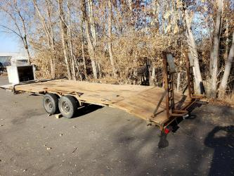 Homemade 28' car hauler trailer with Winch
