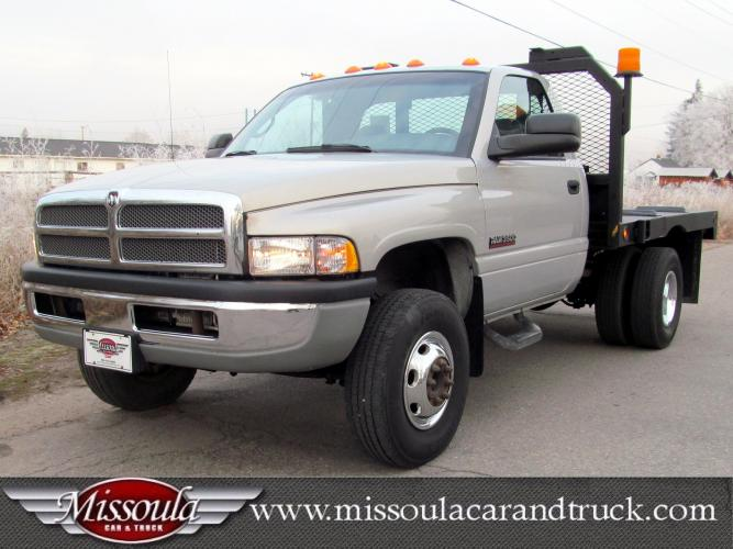 2001 Silver Dodge Ram 3500 (3B6MC36691M) with an 5.9L L6 OHV 24V TURBO DIESEL engine, Automatic transmission, located at 450 N Russell, Missoula, MT, 59801, (406) 543-6600, 46.874496, -114.017433 - Photo #0