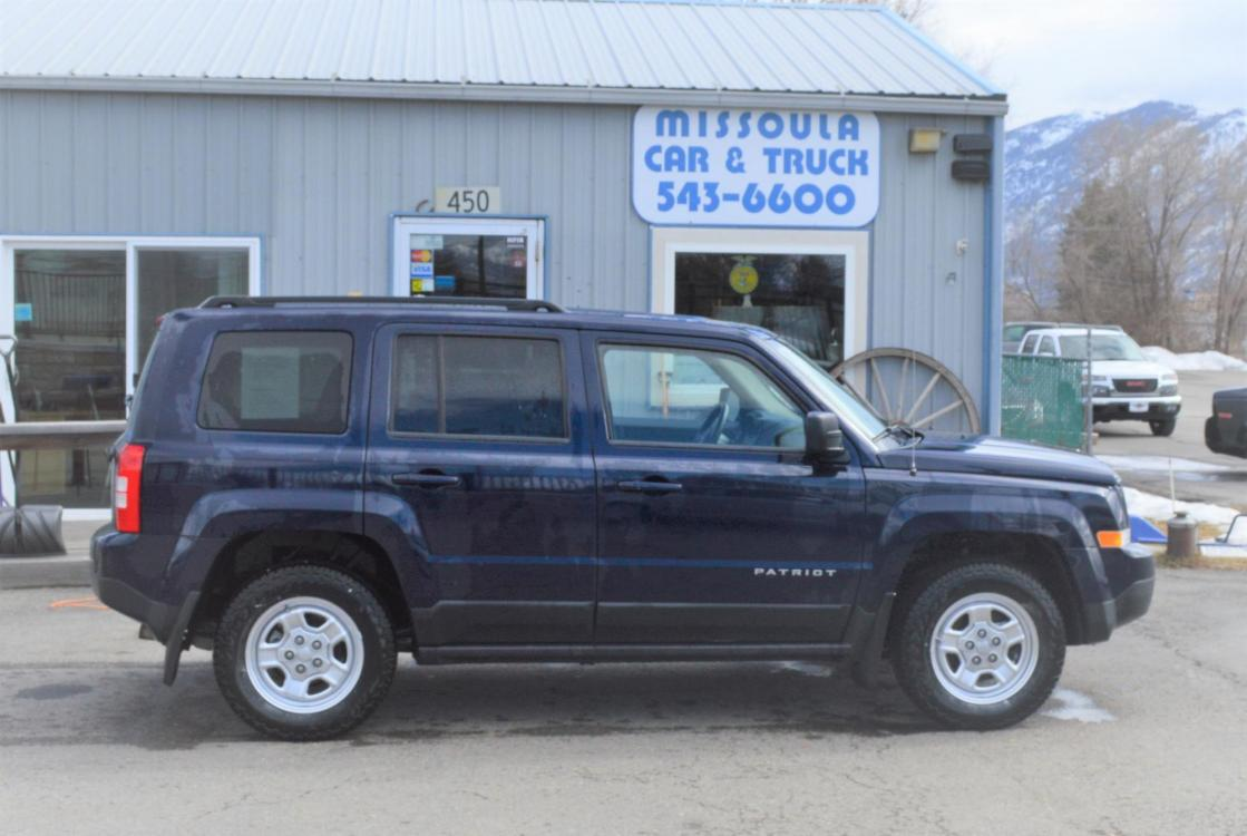 2014 Blue Jeep Patriot Sport 4WD (1C4NJRBB4ED) with an 2.4L L4 DOHC 16V engine, automatic transmission, located at 450 N Russell, Missoula, MT, 59801, (406) 543-6600, 46.874496, -114.017433 - Photo #0