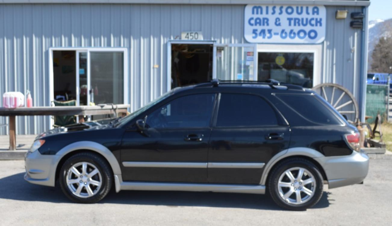 2007 Black Subaru Outback Sport (JF1GG63647H) with an 2.5L H4 SOHC 16V engine, Automatic transmission, located at 450 N Russell, Missoula, MT, 59801, (406) 543-6600, 46.874496, -114.017433 - Photo #0
